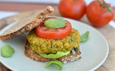 Chickpea and zucchini #Vegan burgers. These bright veggie burgers are a delicious way to celebrate summer squash season.