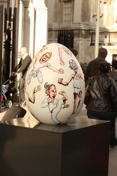 A great egg from the Big Egg Hunt, happening now across London (we made the stands for all the eggs! www.piggotts.co.uk)