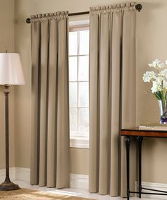 Another great find on #zulily! Taupe Blackstone Blackout Curtain Panel by United Curtain #zulilyfinds