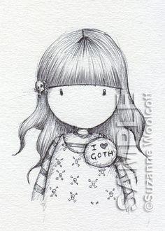 I Heart Goth - Original - SOLD by Suzanne Woolcott, via Flickr