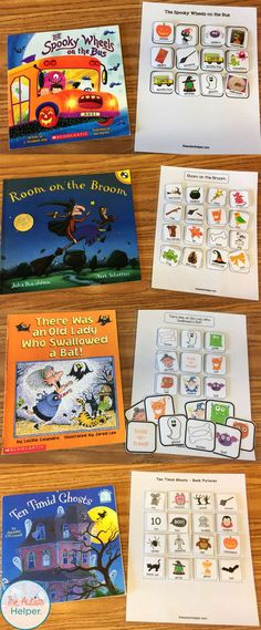 Halloween Free Resource Round Up – The Autism Helper Halloween Free Resource Round Up Halloween Adapted Book Roudup + FREE Book Companions! Halloween Books, Halloween Activities, Holiday Activities, Halloween Themes, Halloween Fun, Preschool Halloween, Halloween Celebration, Fall Preschool, Preschool Literacy