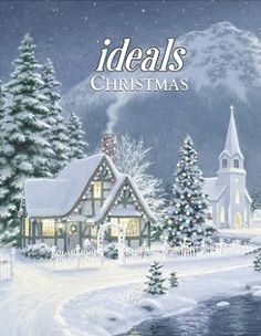 Ideals Christmas with snowy cottage cover.