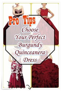 How you can pick out Burgundy Quinceanera dress for a Quinceanera party -- the traditional Latin American ritual which signifies the passage of a girl from childhood to adulthood. Burgundy Quinceanera Dresses, Quinceanera Party, Our Girl, 15 Dresses, Fashion Show, How To Memorize Things, Gowns, Princess, Childhood