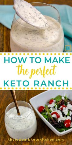 keto recipes KETO RANCH DRESSING MIX: Whether you make dressing or dip or just use it as a seasoning mix, this Keto Ranch Dressing mix deserves a place in your pantry. Its a snap to put together and perfect to have on hand. Mix up a batch today! Keto Ranch Dressing Recipe, Low Carb Ranch Dressing, Low Carb Salad Dressing, Homemade Ranch Dressing, Comida Keto, Keto Sauces, Diet Food List, Diet Foods, Gourmet