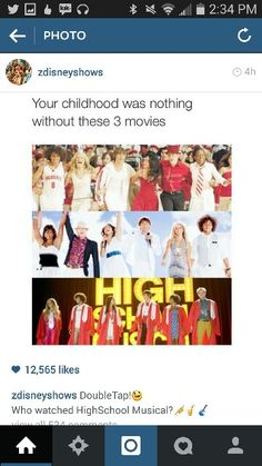 3 Movie, Movies And Tv Shows, Musicals, High School, Childhood, Infancy, Grammar School, High Schools, Childhood Memories