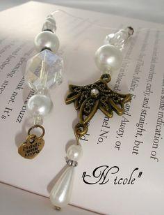Designer Beaded Bookmark  Nicole by SassyBookBling on Etsy, $18.00