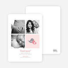 Foursquare Pregnancy Announcements from Paper Culture
