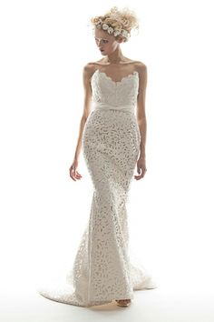 Elizabeth Fillmore Spring 2013 bridal collection. Olivia gown.