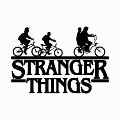 Stranger things Bicycle gang Sticker Vinyl decal Made of high quality vinyl that will adhere to a lap top, car window, tumbler, coffee cup, etc. Stranger Things Logo, Stranger Things Upside Down, Stranger Things Aesthetic, Stranger Things Netflix, Stranger Things Season, Tumblr Stickers, Vinyl Shirts, Kids Shirts, Vinyl Decals