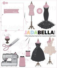 Instant clipart Télécharger Set de 14 couture par jadabellastudio, $5.50
