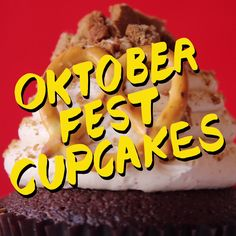 Sweet and spiceful, this Octoberfest Cupcake has both beer and pretzels. Grab a bite and grab a drink!