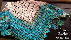 Shawlette as made wraps around neck comfortably. It can also be made into a full sized shawl by simply adding rows.