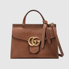 GG Marmont leather top handle bag