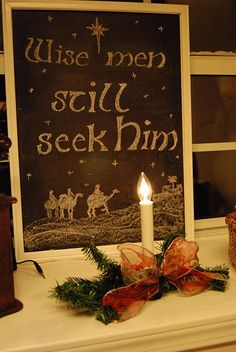 Wise men still seek Him - another great idea for wool project...