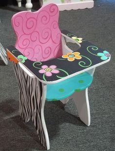 cute painted high-chair
