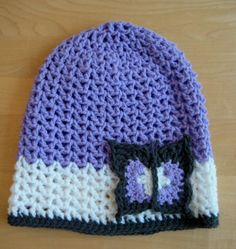Slouchy Butterfly Hat - free crochet pattern by Esther Chandler