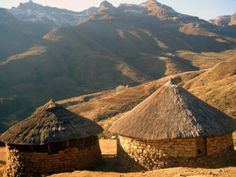Lesotho: next on my list of places to go that few people know anything about. Out Of Africa, West Africa, South Africa, Places Ive Been, Places To Go, Xhosa, Thatched House, Vernacular Architecture, In And Out Movie