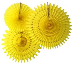 Set of 3 Assorted Tissue Paper Fans - Made in the USA – Devra Party Art Yellow Party Decorations, Honeycomb Decorations, Dessert Table Backdrop, Paper Fans, Backdrops For Parties, Floral Crown, Streamers, Tissue Paper, Wedding Accessories