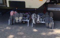 Outdoor Rv Shoe Storage