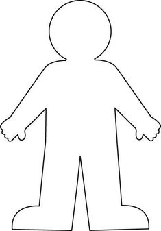 Trendy Human Body Art For Kids Crafts Coloring Pages Arts And Crafts For Adults, Arts And Crafts House, Easy Arts And Crafts, Crafts For Seniors, Crafts For Kids, Person Outline, Body Outline, All About Me Crafts, All About Me Preschool