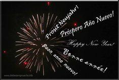 Neujahrswünsche in 5 verschiedenen Sprachen, zusammengefasst unter dem Leuchten eines Feuerwerkes. Prosit Neujahr! Happy New Year, Inspiration, New Years Eve Party, Languages, Cool Quotes, Light Fixtures, Life, Biblical Inspiration, Happy New Year Wishes