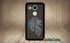 Nexus 5X case wood Lion Real wood Blue sea special par UnikCase1