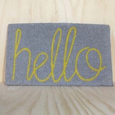 personalised front door mats australia and hello front door mats - Choosing Front Door Mats as a Decoration – Home Decor News Grey Yellow, Mellow Yellow, Gray, Porch Decorating, Interior Decorating, Interior Ideas, Interior Design, Furniture Inspiration, Design Inspiration