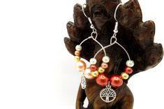 Tree of Life Mismatched Earrings - Beaded Fashion Earrings - Tree of Life Beaded Earrings Handmade Gift Tags, Handmade Items, Etsy Earrings, Drop Earrings, Tree Of Life Earrings, Earring Tree, Close To My Heart, Gay Pride, Fashion Earrings