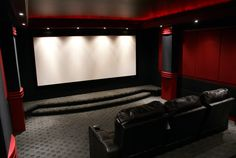 Home Theater Setup with Home Theater Seating