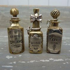 tonic bottles--- want these for myself