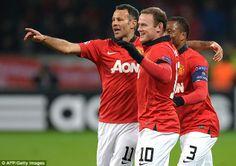 Ryan Giggs, Wayne Rooney, and Patrice Evra