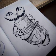 Alice in Wonderland Lynn Harri . - Alice in Wonderland Lynn Harri … Alice in - Space Drawings, Dark Art Drawings, Pencil Art Drawings, Art Drawings Sketches, Disney Drawings, Cute Drawings, Tattoo Drawings, Hard Drawings, Amazing Drawings