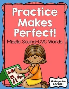 This is a 22-page quick printable packet to give your students practice in identifying middle sounds.