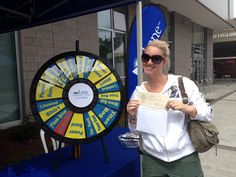 Congratulations, Josclyn Shipman, another big winner on the LCC Prize Wheel! Josclyn is taking home a $100 gift certificate toward a class at Lane. Stop by and see us for your chance to win, next to the #EugeneCelebration LCC Stage! Buy this Prize Wheel at http://PrizeWheel.com/products/tabletop-prize-wheels/table-clicker-prize-wheel-12-24-slot-adaptab/.
