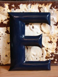 "Vintage porcelain letter E, 10"". (For sale on eBay.)"