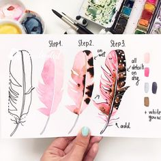 boutique clothing middle eastern fashion athletic training pranayama pop p. - malen - athletic Boutique Clothing eastern fash - boutique clothing middle eastern fashion athletic training pranayama pop p… – malen – Prima Watercolor, Watercolor Feather, Watercolor Paintings, Watercolors, How To Watercolor, Feather Painting, Watercolour Step By Step, Bird Paintings On Canvas, Feather Drawing