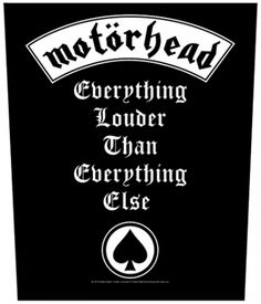 Dossard MOTORHEAD - Everything Louder - Dossards - www.rockagogo.com