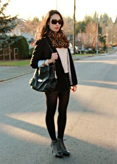 Leopard, Lace and Leather