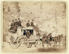 c.1889  Deadwood Stagecoach  Black Hills  Cheyenne by GalleryLF