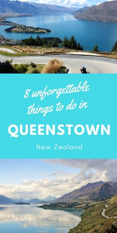 Queenstown is known as the adventure capital of the world! Check out this guide to find 8 unforgettable things to do in Queenstown New Zealand! Queenstown New Zealand, Travel Around The World, Around The Worlds, Adventurous Things To Do, Lake Wakatipu, New Zealand Travel Guide, Best Hikes, Most Beautiful Cities, New Zealand