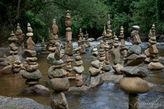 """This is really cool! Colorado artist Mike Grab balances breathtakingly high and precarious stacks of stones, creating mesmerizing natural sculptures he calls """"Gravity Glue."""" The sculptures are created without the help of glue or other trickery (see this Daily Camera video of Grab building the sculptures in Boulder Creek, in Colorado)."""