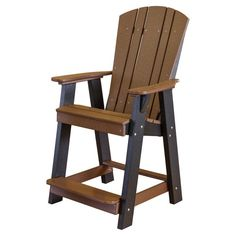 Outdoor Little Cottage Heritage Recycled Plastic Balcony Chair - LCC-150-