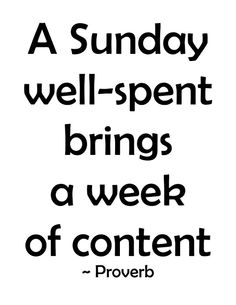 Spend your Sunday doing what you love!