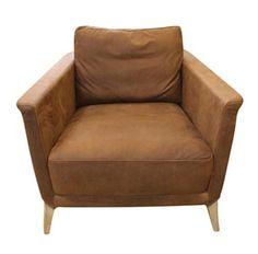 Birkin Tan Leather Armchair Was $2200