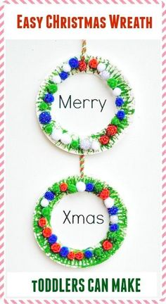 Easy toddler friendly Christmas crafts