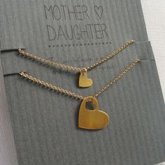 Mother Daughter Bracelet Set gold hearts mom