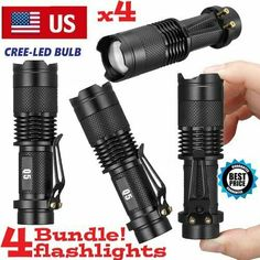 500000lm T6 LED Tactical Flashlight Military Zoomable 5Modes 18650 Torch Light