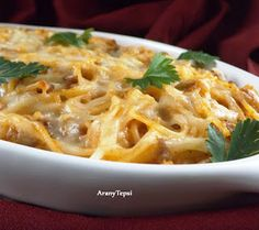 AranyTepsi: Húsos spagetti sajtosan, sütve Spagetti, Macaroni And Cheese, Ethnic Recipes, Food, Essen, Mac And Cheese, Yemek, Meals