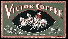Victor Coffee label