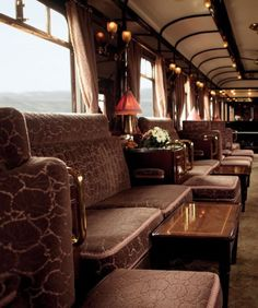 A restored 1920 vintage car which still runs on the Venice Simplon-Orient-Express (VSOE). Considered number one of the top 10 luxury trains in the world, the train still runs on the legendary route from Paris to Istanbul. The VSOE, with its restored 1920s vintage cars is the world's most authentic luxury train.